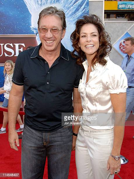 Tim Allen and wife Jane Hajduk during Santa Clause 3 The Escape Clause Los Angeles Premiere Arrivals at El Capitan Theatre in Hollywood California...