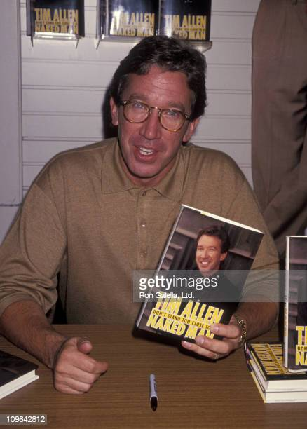 """Tim Allen during Tim Allen Autographs New Book """"Don't Stand Near A Naked Man"""" at Bretano's Bookstore - October 3, 1994 at Bretano's Bookstore in..."""