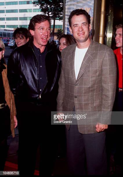 """Tim Allen & Tom Hanks during """"Toy Story"""" - Hollywood Premiere at El Captain Theatre in Hollywood, California, United States."""