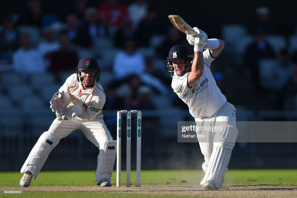 Tim Ambrose of Warwickshire batting during the County Championship Division One match between Lancashire and Warwickshire at Old Trafford on August 30, 2017 in Manchester, England.
