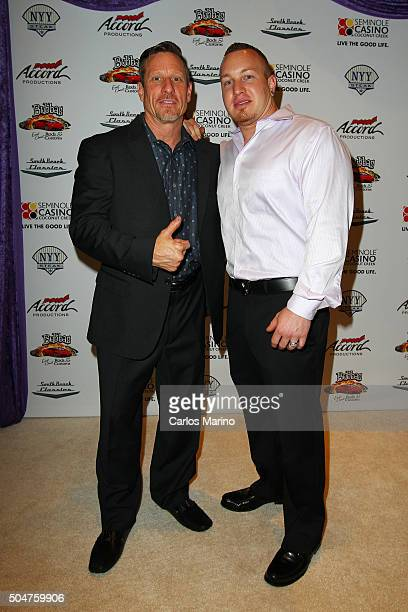 Tim and Bubba Llyod attend as South Beach Classics Unveils Custom 1957 Thunderbird For Bucky Dent at Seminole Casino Coconut Creek on January 12 2016...