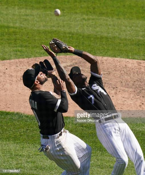 Tim Anderson of the Chicago White Sox catches the fly out by Josh Donaldson of the Minnesota Twins during the eighth inning of a game at Guaranteed...