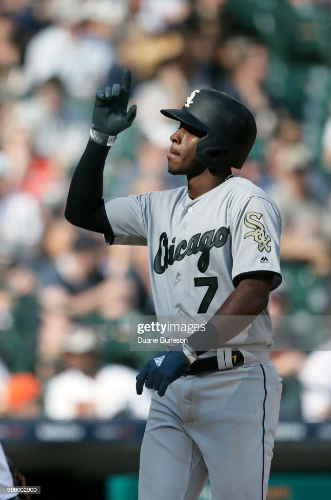 a78001ea19 Tim Anderson of the Chicago White Sox celebrates his home run ...
