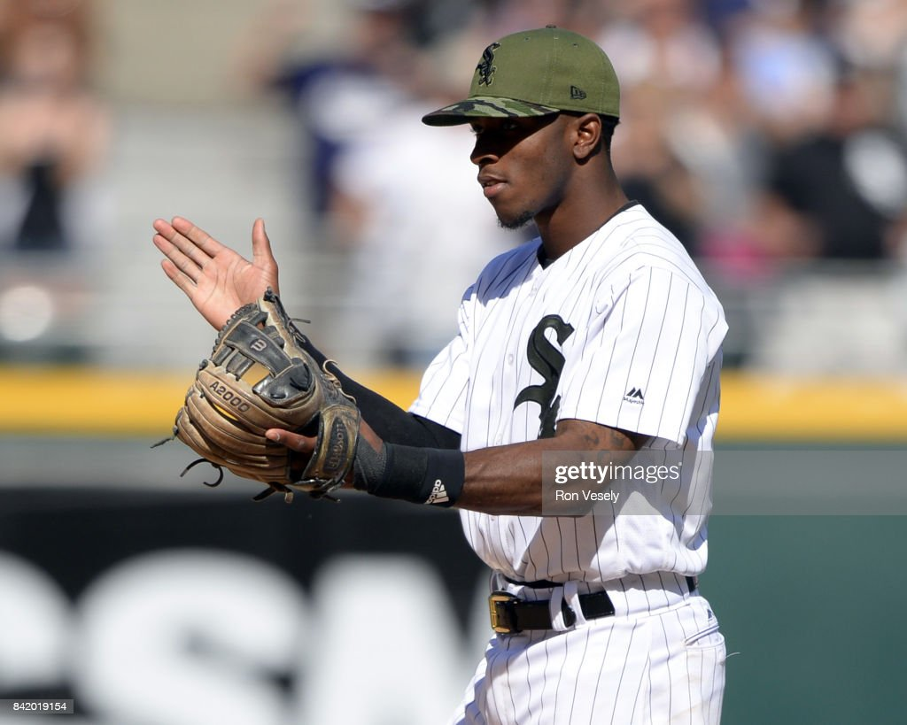 Tim Anderson #7 of the Chicago White Sox reacts in the ninth inning during the game against the Boston Red Sox on May 29, 2017 at Guaranteed Rate Field in Chicago, Illinois.