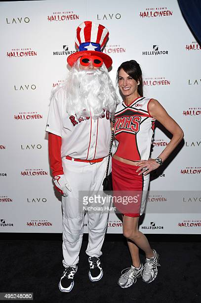 Tim Armstrong and Nancy Armstrong attend Heidi Klum's 16th Annual Halloween Party sponsored by GSN's Hellevator And SVEDKA Vodka At LAVO New York on...