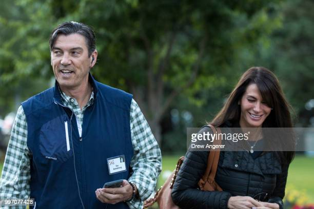 Tim Armstrong chief executive officer of Oath Inc and former chief executive officer of America Online and his wife and producer Nancy Armstrong...