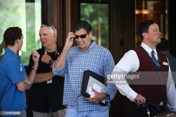 Tim Armstrong , former chief executive officer of Verizon Oath Inc. And former AOL chief executive officer, arrives the annual Allen & Company Sun...