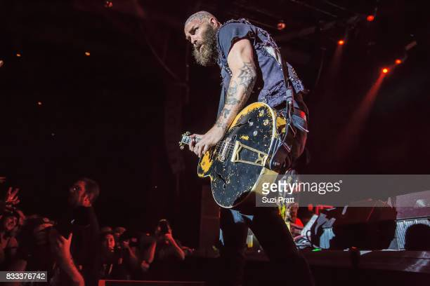 Tim Armstrong of Rancid performs at WaMu Theater on August 16 2017 in Seattle Washington