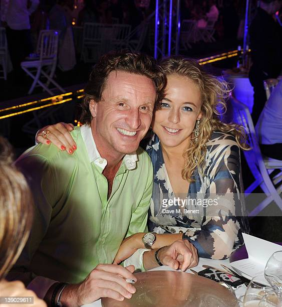 Tim Attias and Alexandra Spencer Churchill attend Goga Ashkenazi's Summer Party at her Villa on July 16 2010 in St TropezFrance