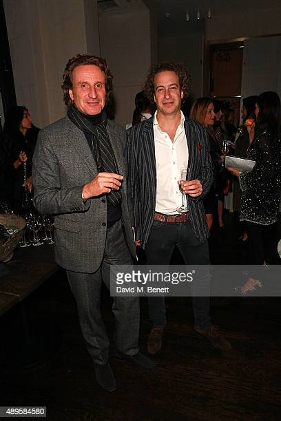 Tim Attias and guest attend an after party for the exclusive viewing of 'McQueen' hosted by Karim Al Fayed for Lonely Rock Investments during London...