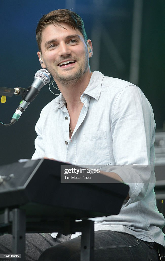 Tim Baker of Hey Rosetta! performs during the Pemberton Music and Arts Festival on July 20, 2014 in Pemberton, British Columbia.