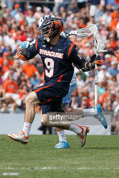 Tim Barber of Syracuse Orange plays against the North Carolina Tar Heels on April 11 2015 at Fetzer Field in Chapel Hill North Carolina North...