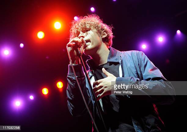 Tim Bendzko performs live in support of Elton John at the LanxessArena on June 19 2011 in Cologne Germany