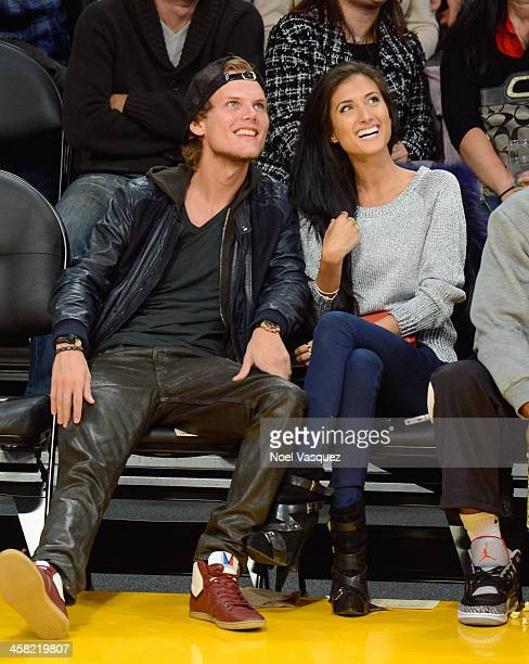 Tim Bergling and Raquel Bettencourt attend a basketball game between the Minnesota Timberwolves and the Los Angeles Lakers at Staples Center on...