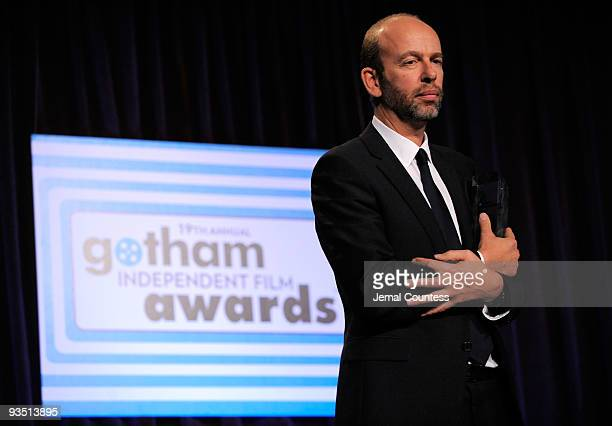 Tim Bevan of Working Title speaks onstage at IFP's 19th Annual Gotham Independent Film Awards at Cipriani Wall Street on November 30 2009 in New York...