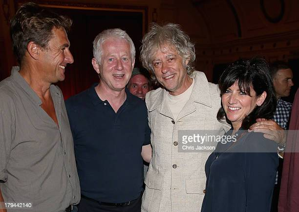 Tim Bevan Richard Curtis Bob Geldof and Emma Freud attends the About Time special screening at The Electric Cinema on September 3 2013 in London...