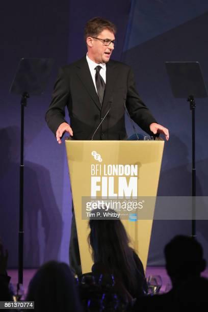 Tim Bevan speaks on stage during the 61st BFI London Film Festival Awards on October 14 2017 in London England