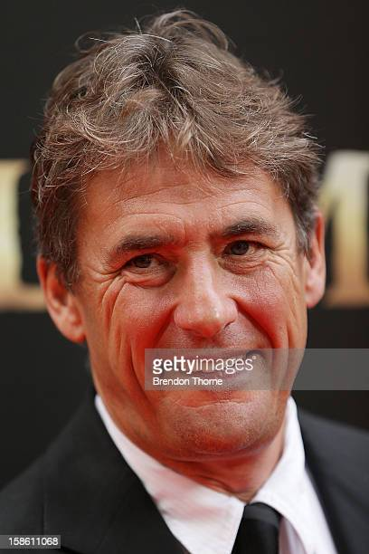 Tim Bevan walks the red carpet during the Australian premiere of 'Les Miserables' at the State Theatre on December 21 2012 in Sydney Australia