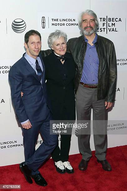 """Tim Blake Nelson, Glenn Close, and Sam Waterston attend the world premiere of """"Anesthesia"""" during the 2015 Tribeca Film Festival at BMCC Tribeca PAC..."""