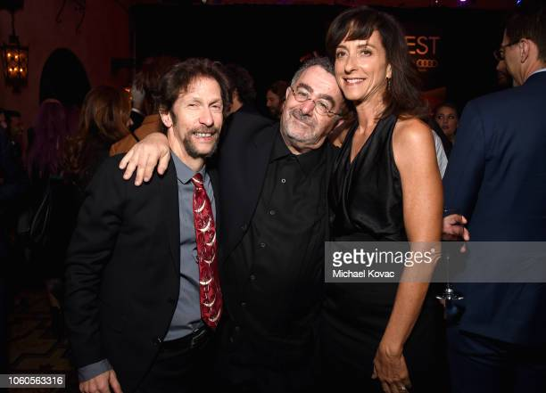 """Tim Blake Nelson, Saul Rubinek and Mary Zophres attend the after party for the Gala Screening of """"The Ballad Of Buster Scruggs"""" at Roosevelt Ballroom..."""