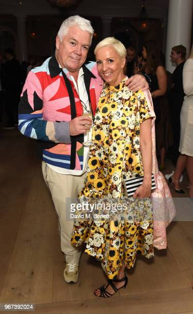 Tim Blank and AnneMarie Curtis attend THE ELLE LIST 2018 in association with THEOUTNETCOM at Spring at Somerset House on June 4 2018 in London England