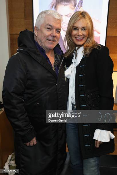 Tim Blanks and Kim Hersov attend the Rupert Sanderson Christmas 2017 lunch at Rupert Sanderson store on Bruton place on December 13 2017 in London...