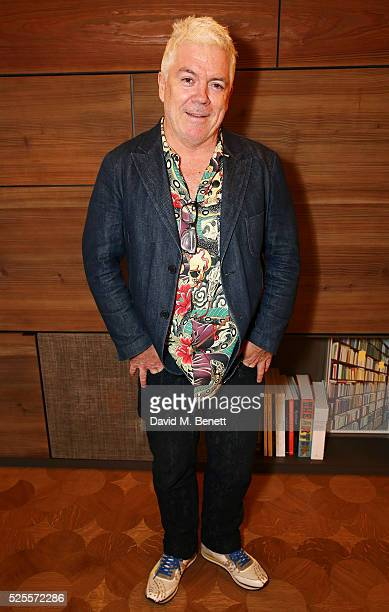Tim Blanks attends the BFC Fashion Trust x Farfetch cocktail reception on April 28, 2016 in London, England.