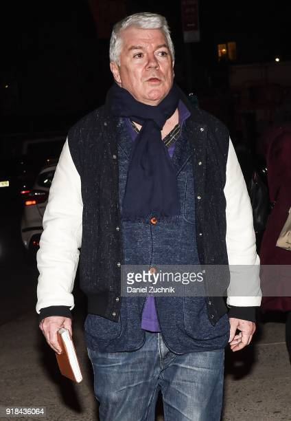Tim Blanks is seen outside the Marc Jacobs show during New York Fashion Week Women's A/W 2018 on February 14 2018 in New York City