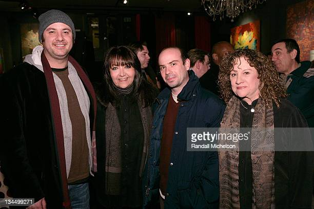 Tim Boland Doreen Ringer Ross BMI Sam Retzer and Linda Livingston BMI attends the BMI Big Crowded Room Party at the Leaf Lounge during the 2008...