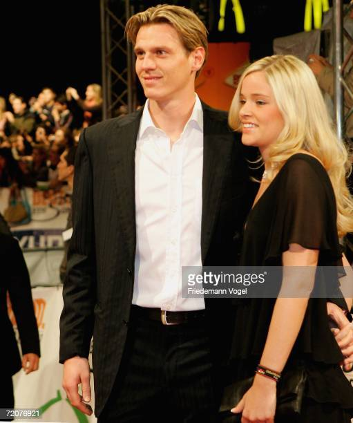 Tim Borowski and his wife Lena attend the premiere of the film Deutschland ein Sommermaerchen at the Berlinale Palast on October 3 2006 in Berlin...