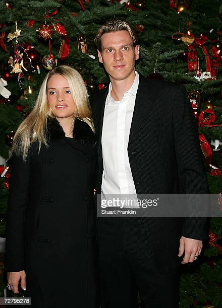 Tim Borowski with his wife Lena Borowski during the Christmas Party of Werder Bremen at the Park Hotel on December 11 2006 in Bremen Germany