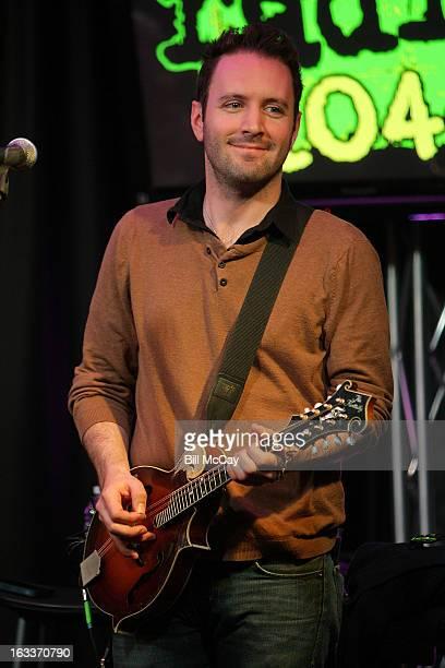 Tim Brennan of Dropkick Murphys performs at Radio Station Q102 iHeartRadio Performance Theater March 8 2013 in Bala Cynwyd Pennsylvania