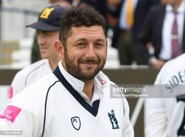 Tim Bresnan looks on after Warwickshire won the Bob Willis Trophy Final between Warwickshire and Lancashire at Lord's Cricket Ground on October 01,...