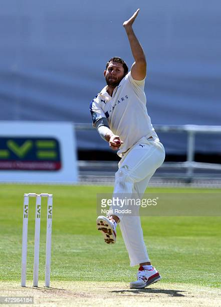 Tim Bresnan of Yorkshire during day two of the LV County Championship Division One match between Yorkshire and Hampshire at Headingley on May 11 2015...
