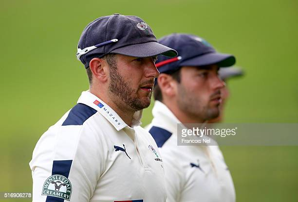 Tim Bresnan of Yorkshire looks on during day three of the Champion County match between Marylebone Cricket Club and Yorkshire at Sheikh Zayed stadium...