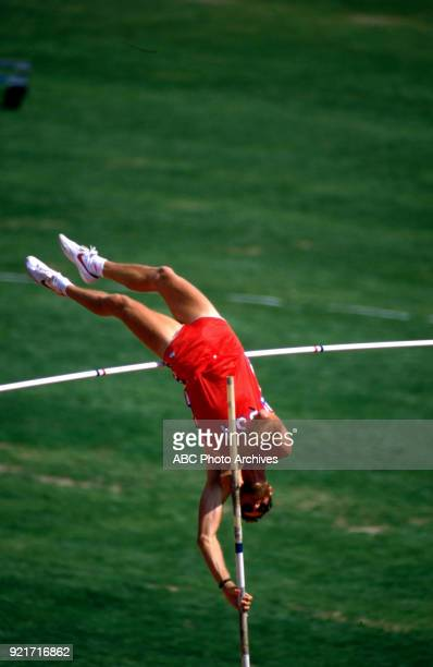 Tim Bright Men's decathlon pole vault competition Memorial Coliseum at the 1984 Summer Olympics August 8 1984