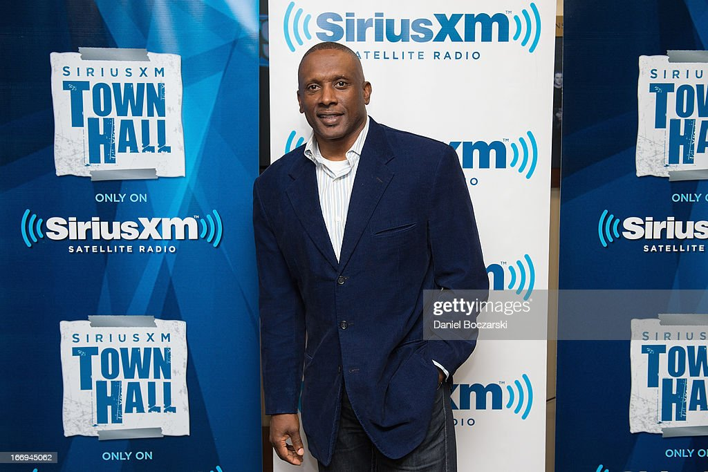 Tim Brown attends SiriusXM's Notre Dame Town Hall with Brian Kelly and Tim Brown, live from Notre Dame Stadium on April 18, 2013 in South Bend, Indiana.
