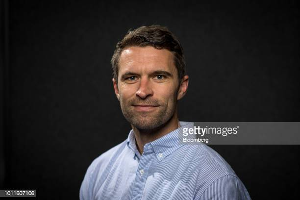 Tim Brown cofounder and cochief executive officer of Allbirds Inc stands for a photograph after a Bloomberg Technology television interview in San...