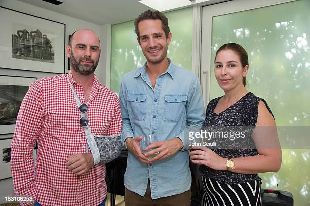 Tim Buggs Stewart Krimko and Karyn Lovegrove attend the Rema Hort Mann Foundation conversation with Susan and Michael Hort on September 28 2013 in...