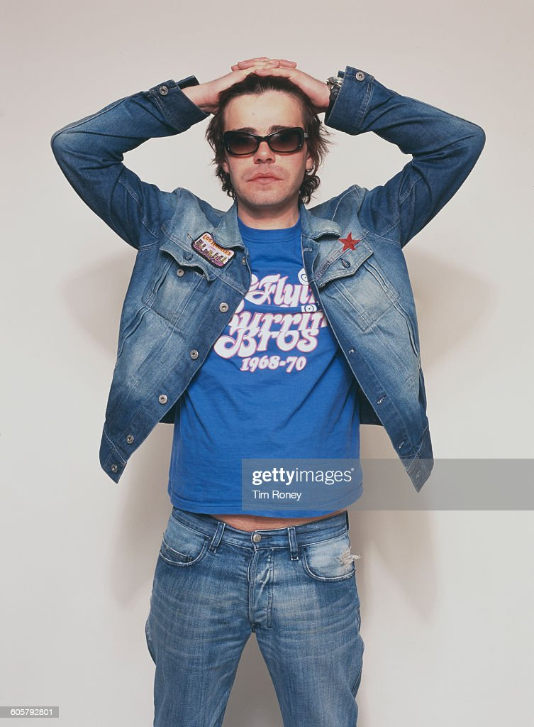 Tim Burgess, lead singer of British alternative rock band The Charlatans, circa 1990.