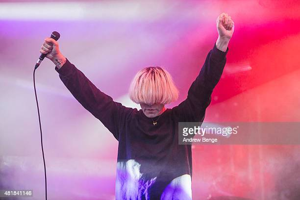 Tim Burgess of The Charlatans performs on the Main Stage at Tramlines Festival on July 24 2015 in Sheffield United Kingdom