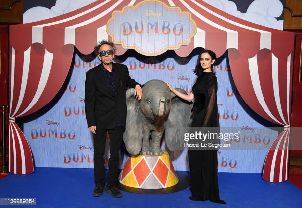 "Tim Burton an Eva Green attend the ""Dumbo"" Paris Gala Screening at Cinema Le Grand Rex on March 18 2019 in Paris France"