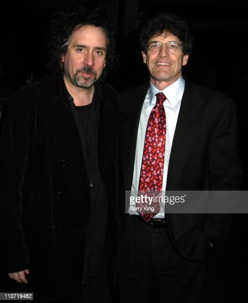 Tim Burton and Alan Horn during Tim Burton Appearance at Corpse Bride Screening with Props and Sets from Film at Directors Guild of America in...