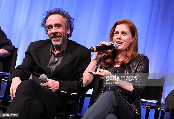 Tim Burton and Amy Adams attend an Official Academy Members Screening of Big Eyes hosted by The Academy Of Motion Picture Arts And Sciences on...