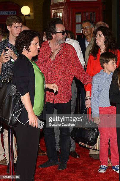 Tim Burton and Billy Raymond Burton attend The Wizarding World of Harry Potter Diagon Alley Grand Opening at Universal Orlando on June 18 2014 in...