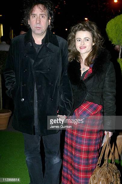 Tim Burton and Helena Bonham Carter during Edward Scissorhands West End Premiere and Press Night Arrivals at Sadler's Wells Theatre in London Great...