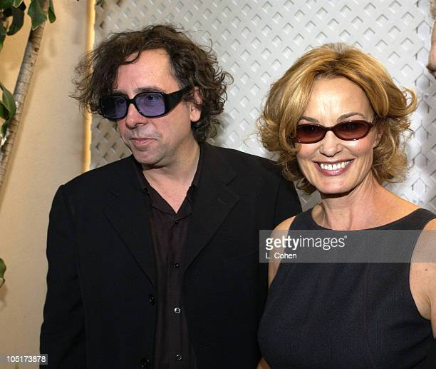 Tim Burton and Jessica Lange during 10th Annual Premiere Women In Hollywood Luncheon at Four Seasons Hotel in Los Angeles California United States