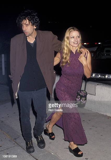 Tim Burton and Lisa Marie during Tim Burton Sighting at The Roxbury Club August 14 1993 at The Roxbury Club in Los Angeles California United States