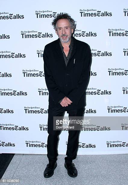 Tim Burton appears to promote 'Miss Peregrine's Home for Peculiar Children' during the Times Talks Series at The New School on September 28 2016 in...