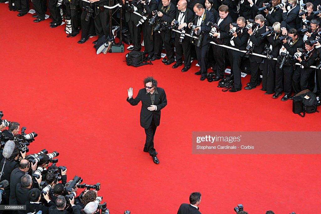 Tim Burton at the premiere of 'The Da Vinci Code' during the 59th Cannes Film Festival.